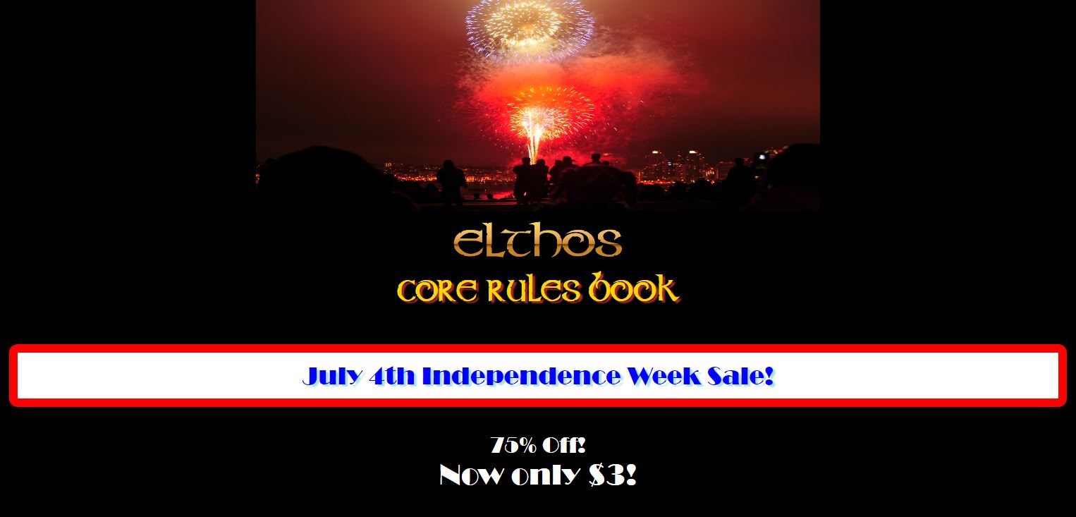 Elthos RPG Independence Week Sale